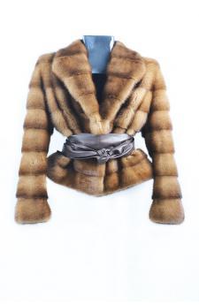 Деми бафф норки куртка