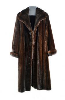 Cappotto di visone black glama