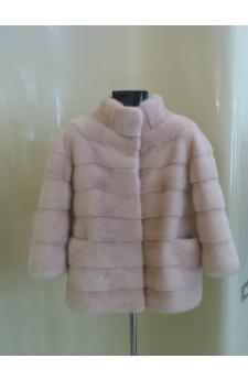 Giacca di visone rosa